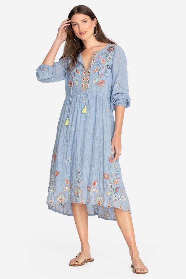 KAYRA TEA LENGTH DRESS