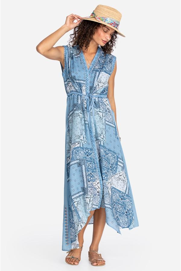 BANDANA ASYMMETRICAL DRESS