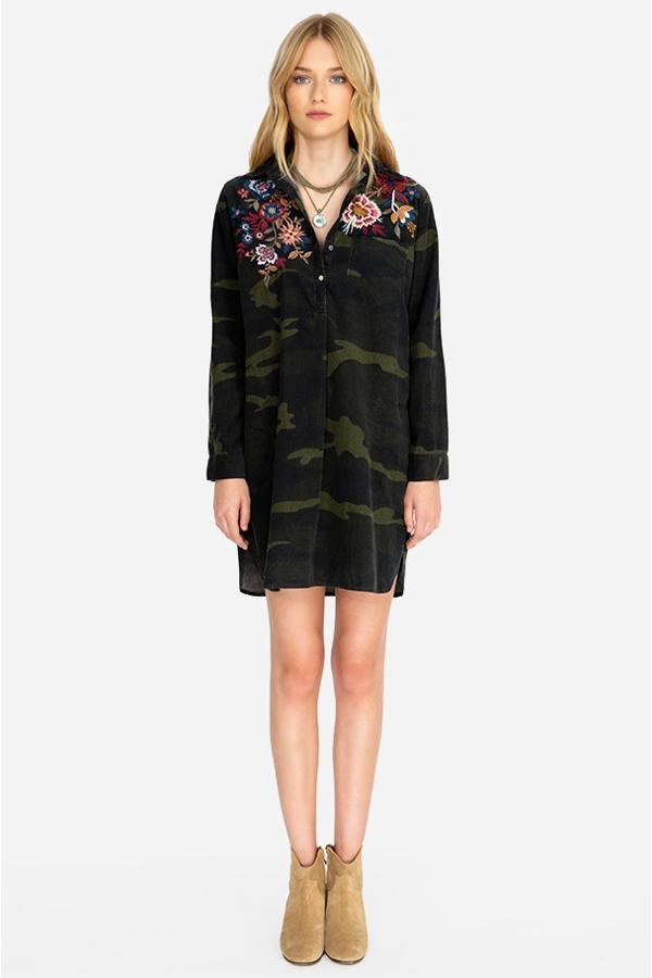 MARGOT COLLARED TUNIC DRESS