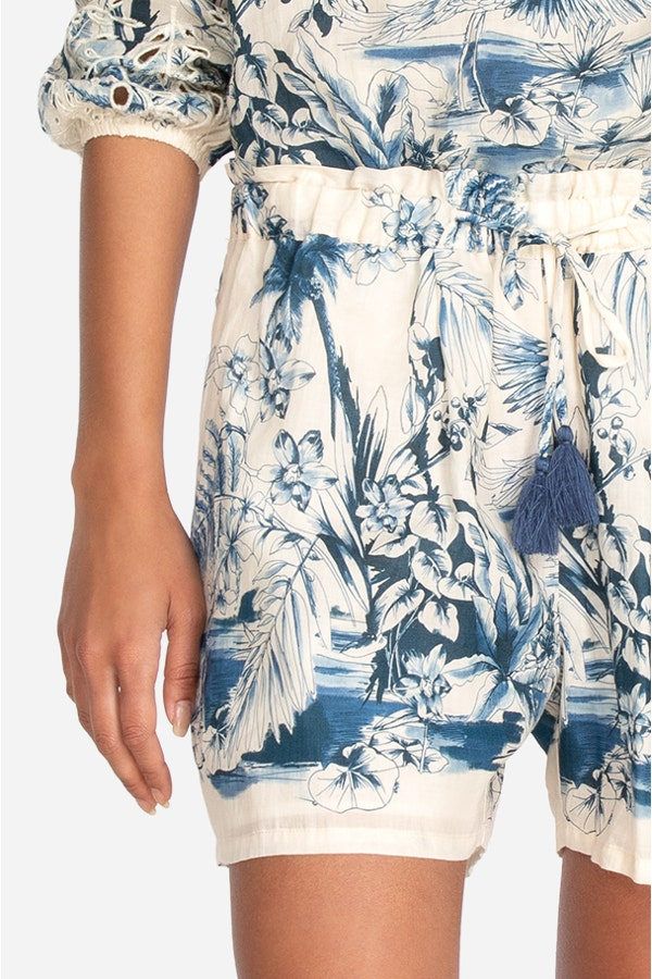 PACIFIC PALMS PAPERBAG SHORT
