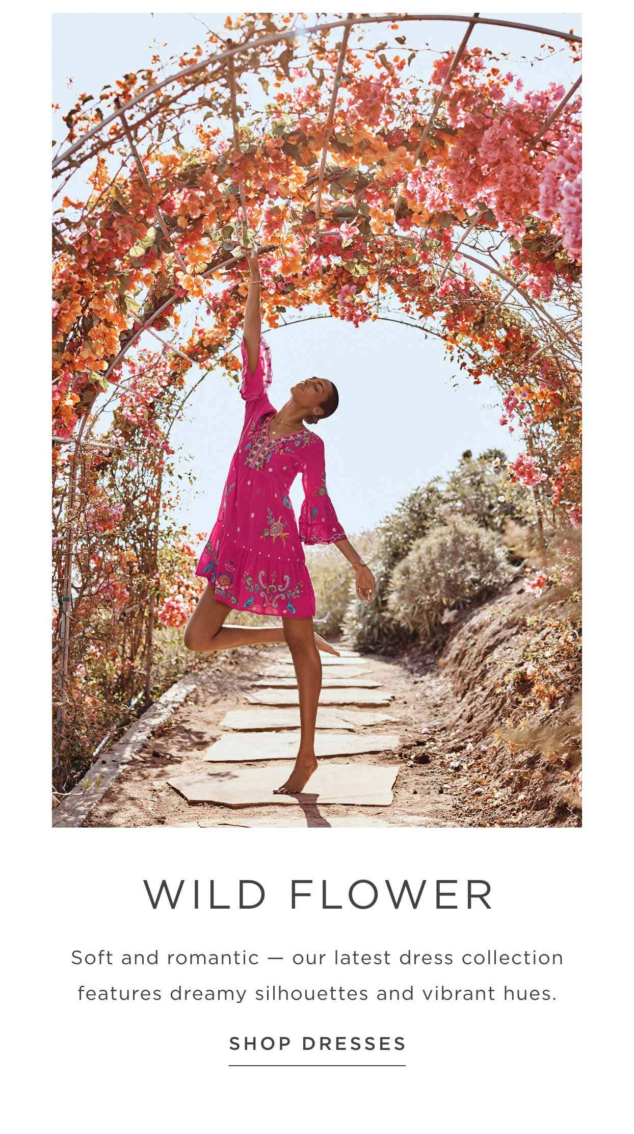 Wild Flower - Soft and romantic — our latest dress collection features dreamy silhouettes and vibrant hues - Shop Dresses