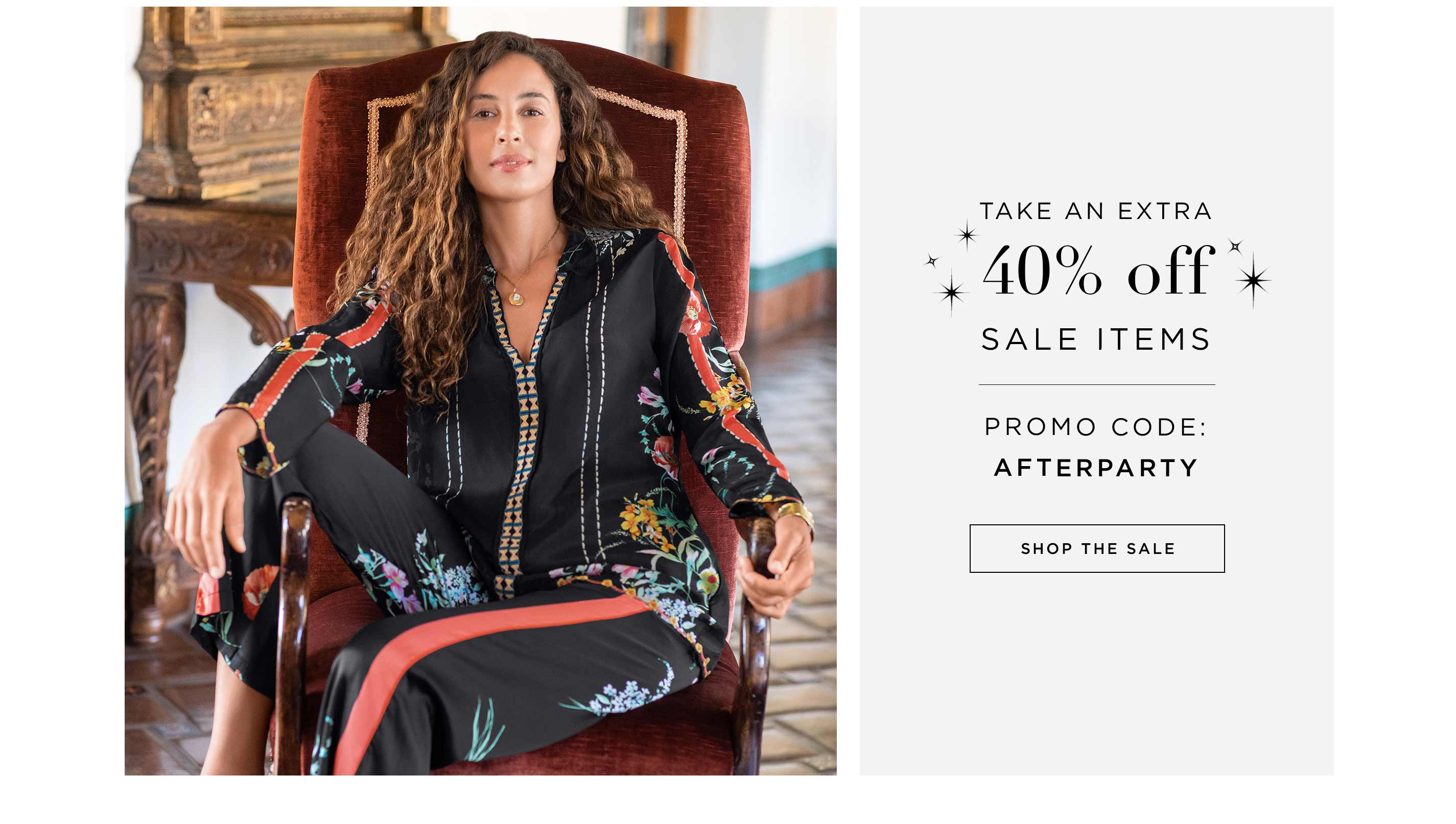 Take an Extra 40% off Sale Items - Promo code: AFTERPARTY - Shop the Sale