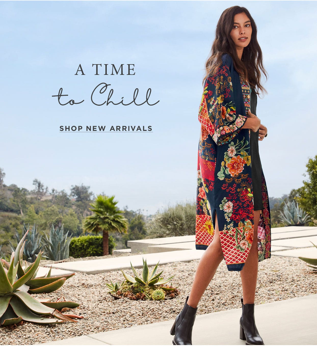 A time to chill -Cozy layers with whimsical patterns add a touch of eye candy. Shop Kimonos