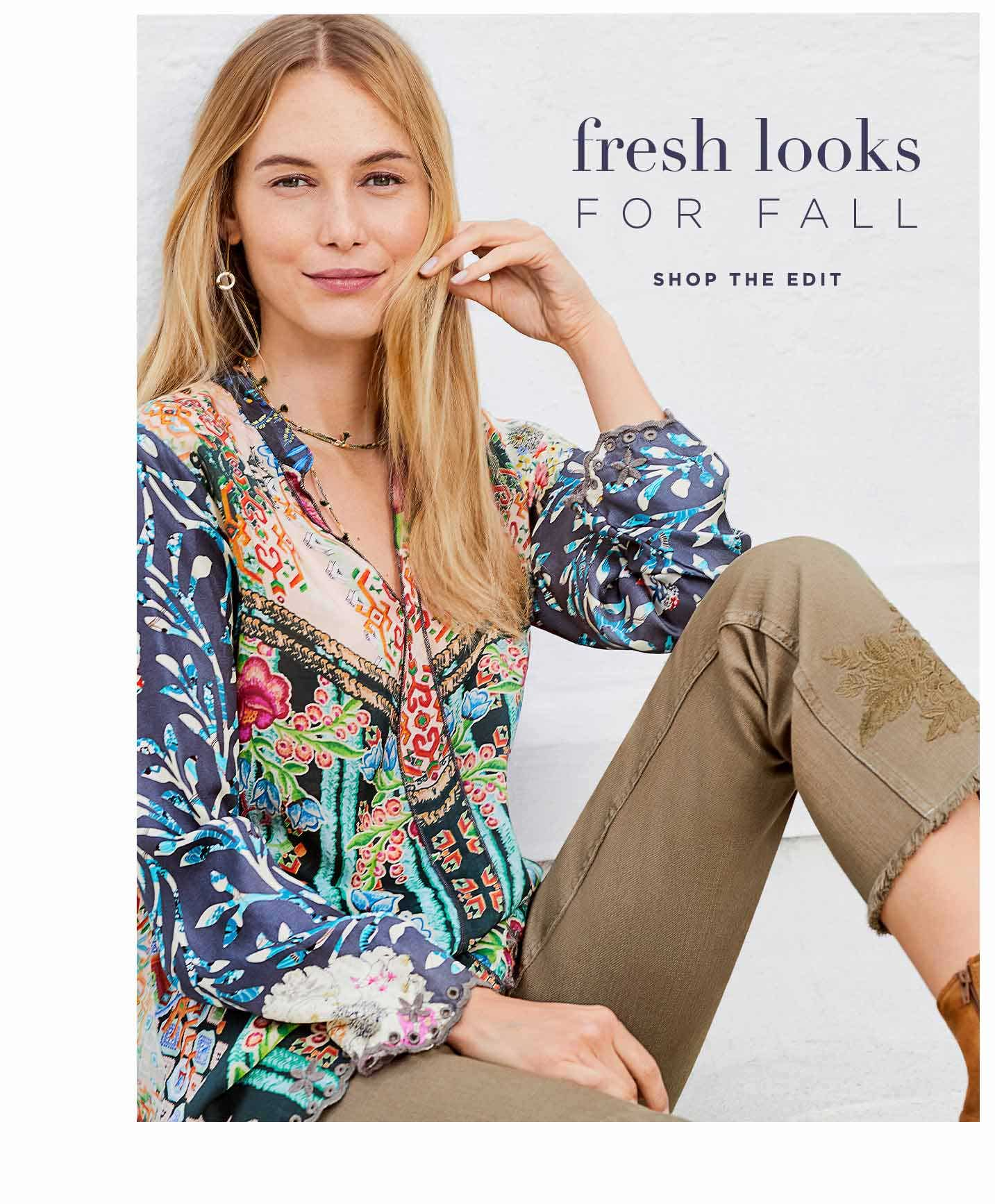 Fresh Looks for Fall - Shop the Edit