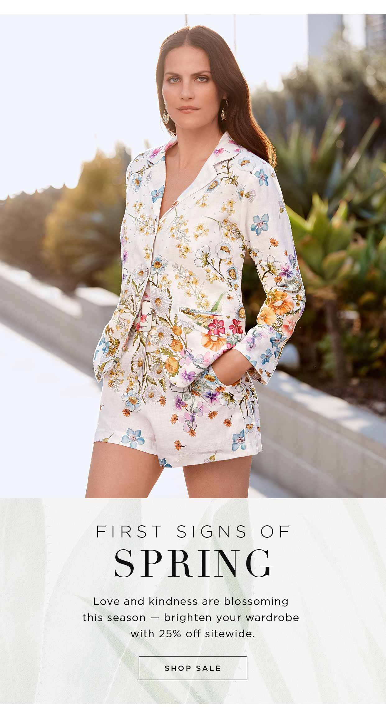 First Signs of Spring - Love and kindness are blossoming this season - brighten your wardrobe with 25% off sitewide - Shop Sale