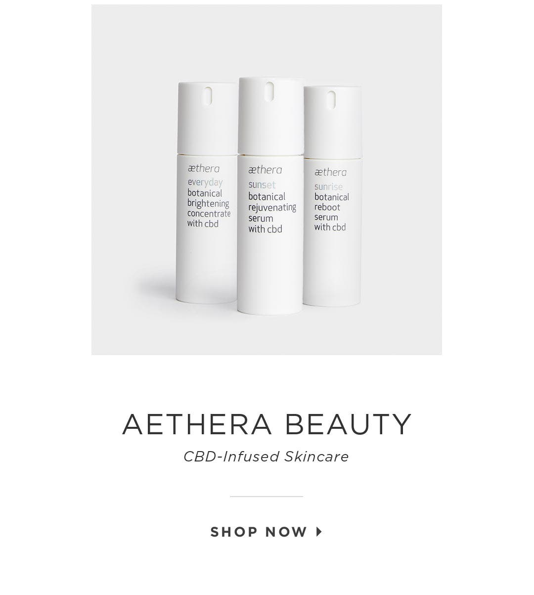 Aethera Beauty – CBD-Infused Skincare. Shop Now.