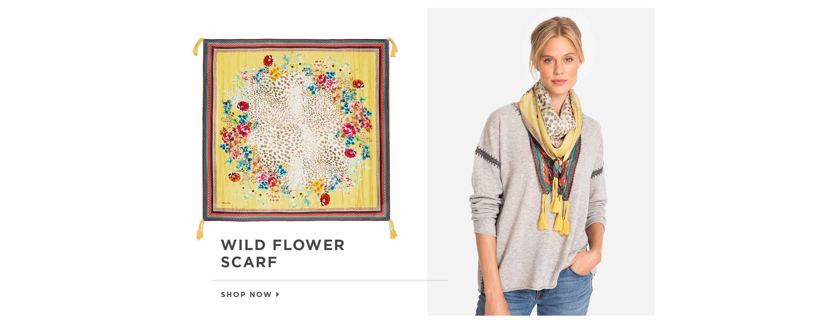 Wild Flower Scarf. Shop now.