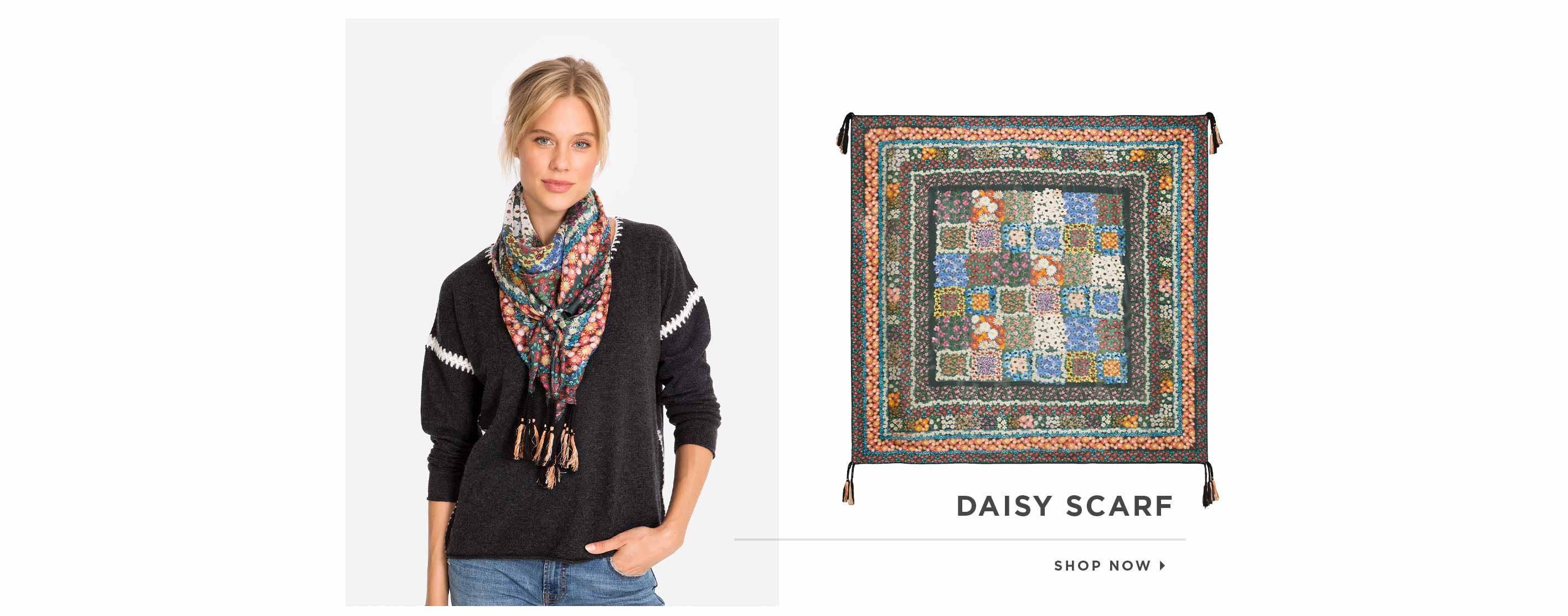 Daisy Scarf. Shop now.