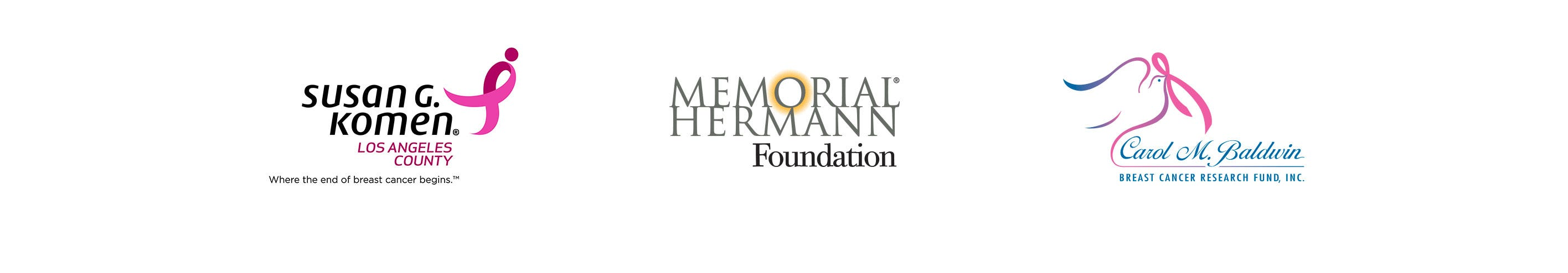 Carol M. Baldwin Breast Cancer Research Fund, The Memorial Hermann Foundation, and Susan G. Komen.
